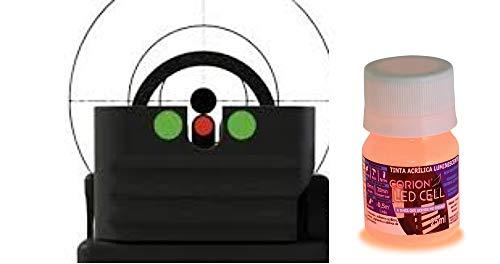 Pintura Luminosa Corion Glow para Visor de mira, binla de Pistola, Rifle, carabina. 20 ml. Brillante súper Brillante para Pintura Punto Rojo, Rojo Dot, Punto Iluminado, Efecto tritium (Rosa Ne