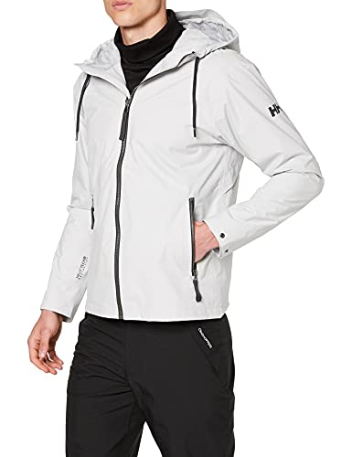 Helly Hansen Urban Rain Jacket Abrigo Impermeable, Hombre, Grey Fog, M