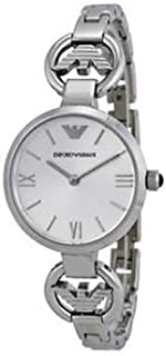 Emporio Armani Women's Silver Dial Stainless Steel Band Watch - AR1775