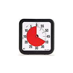 Time Timer Original 12 inch; 60 Minute Visual Timer – Classroom Or Meeting Countdown Clock for Kids and Adults (Black) (Time Timer 12)