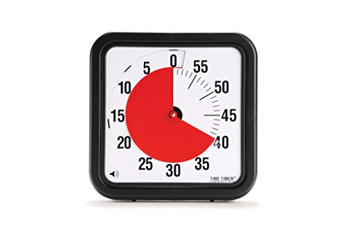 Time Timer Original 12 inch; 60 Minute Visual Timer – Classroom Or Meeting Countdown Clock for Kids and Adults (Black) (Time Timer 12')