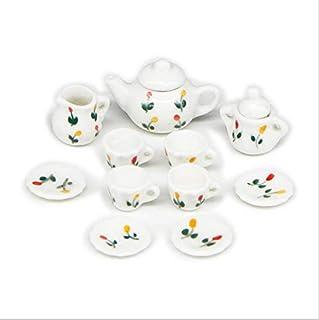NW 1 Set Ceramics Tea Cup Set Lovely Dollhouse Decoration Set Dollhouse Kitchen Accessories (#29)