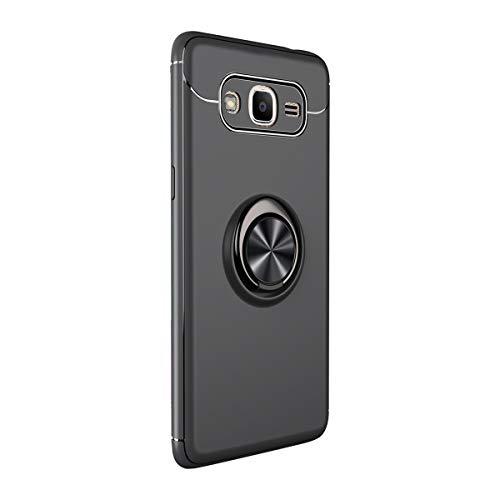 Compatible con Samsung Galaxy G530 Carcasa Anillo TPU Silicona Anillo Soporte Carcasa Carcasa con Soporte Magnético Auto Mount Teléfono Móvil Original para Galaxy G530 Negro Talla única