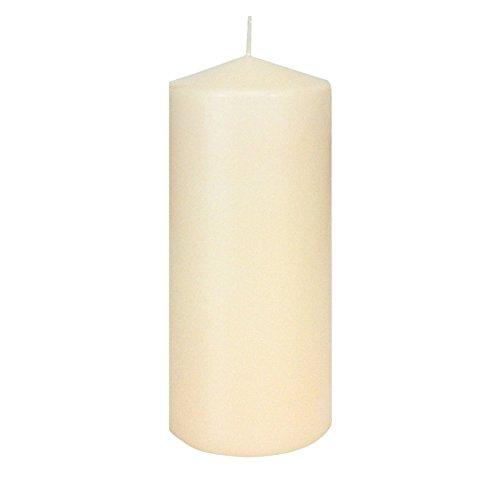 JEKA-Kerzen Kaminkerze Laternenkerze Champagner Größe ca. 8 x 20 cm Kerze, Stumpenkerze