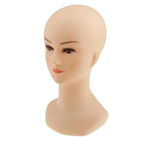 Maquillaje Mujer Maniquí Cabeza Pelucas Sombrero Joyería Display...