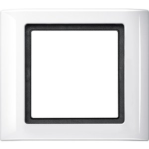 Merten 400119 AQUADESIGN Plaque de finition 1 prise Blanc polaire