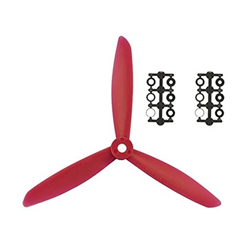 MZWNQ Accessori per Parti di droni 4 Paia RC FPV Drone 6045 Elica a 3 Pale in Nylon Paddle 6 Pollici CW CCW Prop X240 X250 Mini 3-Assi Quadcopter Accessori ( Color : Red )