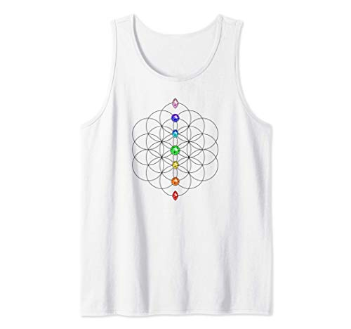 Chakra, Flor de la vida, Geometría sagrada, Yoga, Símbolo Camiseta sin Mangas