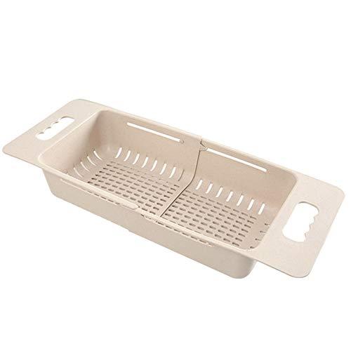 Rysmliuhan Shop Colapasta Colino Filtro da Cucina Sink Cestello Gadget da Cucina per La Cottura Piccolo Colino Khaki,One Size