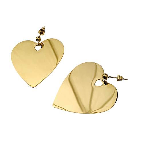 Pendientes Prominente AISADI 20100202/9 para un regalo corazón chapado en oro hipoalergénico de acero inoxidable quirúrgico BLUEBERRY TTM XUPING MOONRIVER STAINLESS STAINLESS SUNLIGHT