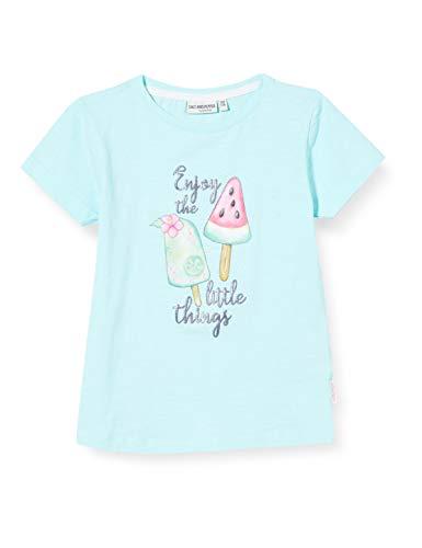 Salt & Pepper Mädchen 03112240 T-Shirt, Türkis (Capri Blue 415), (Herstellergröße: 92/98)