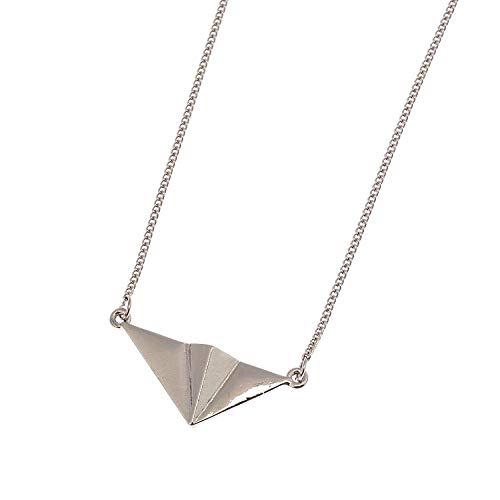 lonfenner Pullover Halskette,Design Extrem Kurze Tiermodell Diablo Joker Europäischen Und Amerikanischen Wind Metallring Pullover Halskette Silber