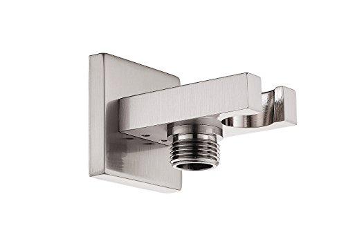 SR SUN RISE Brass Square Handheld Shower Head Bracket Holder Wall Mount,Concealed Installation Brushed Nickel
