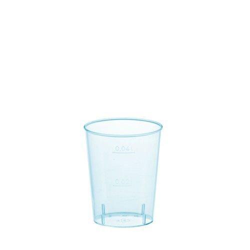 Schnapsglas / Stamperl (Hellblau - 4 cl / 40 Stück)