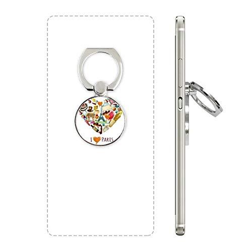 Frankrijk liefde Parijs Eiffel Boog van Triomf Hart Telefoon Ring Stand Houder Beugel Universele Smartphones Ondersteuning Gift
