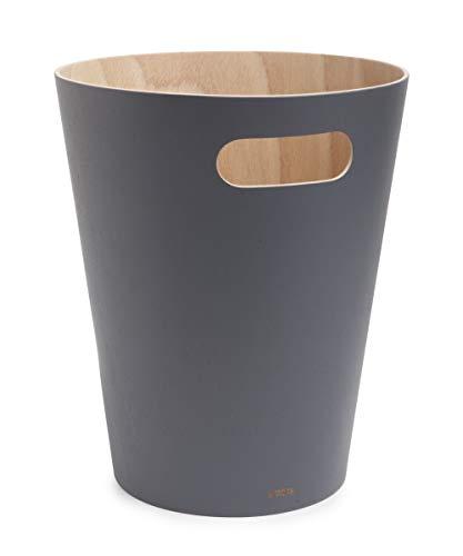 Umbra Cubo de Basura, Madera, Natural/Carbón