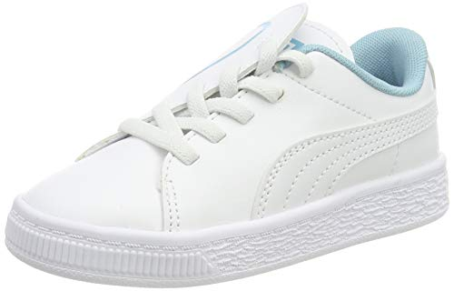 PUMA Basket Crush AC Inf, Zapatillas para Niñas, White-Milky Blue, 27 EU