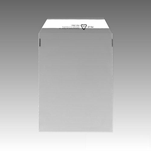 1000 Folienversandtaschen Klappenbeutel transparent DIN B4 245x350 mm Versandtaschen UNIPOST 510804