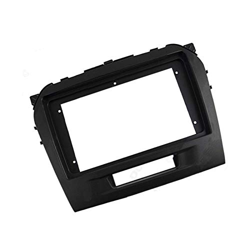 Ajuste para Suzuki Vitara 2015 - Radio de coche de 9 pulgadas pantalla grande 2DIN Fascia marco adaptador reproductor de DVD Dash Kit de marco de panel de montaje (negro)