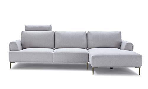 Meubletmoi Divano angolare Tessuto modulabile–dossiers Mobili–Design Contemporaneo–qualità Comfort Best Premium–Alix