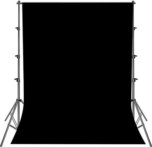 Telón de fondo para estudio de fotografía, pantalla negra plegable, 2 x 3 m, pantalla negra de tela, fotografía de moda, pantalla negra, grabación de vídeo, pantalla negra