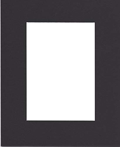 Pack of (2) 18x24 Acid Free White Core Picture Mats Cut for 12x18 Pictures in Black