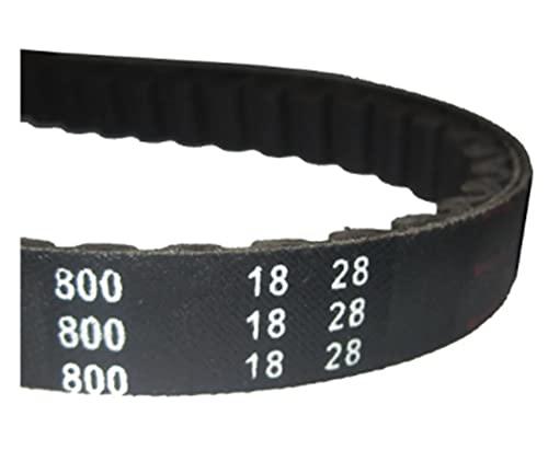 CY-STOR 800 18 28 CVT Drive Belt Fit for Jog 50cc 90cc 100cc 1e40qmb 1e50qmf 1e52qmg Scooter ATV Fit para Jonway Fit para Baotian Fit for Roketa Fit for Taotao Fit for Keeway Parts Partes del