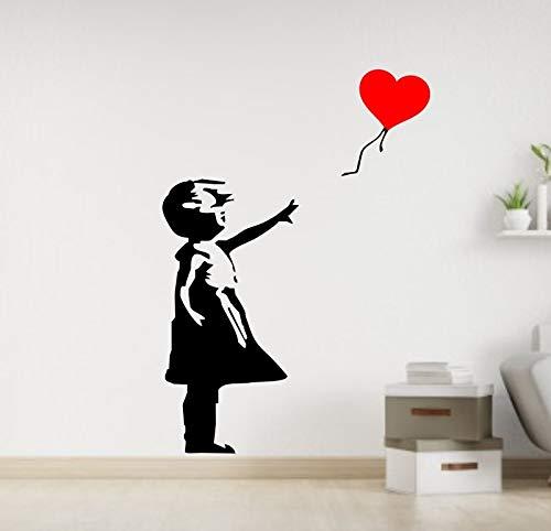 CrazyShirt Wandtattoo - Girl with Balloon - Banksy (Ausrichtung nach rechts, 160 x 110 cm)