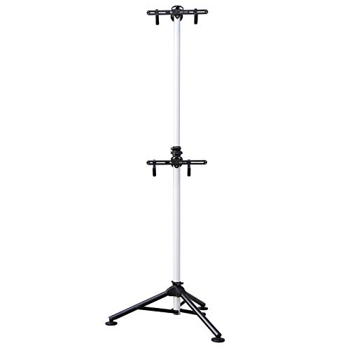 Bikehand Indoor 2 Bike Bicycle Vertical Gravity Hanger Floor Parking Rack Storage Stand for Garages or Apartments Nook Hook for Bicycles - Hanging Your Road, Mountain or Hybrid Bikes