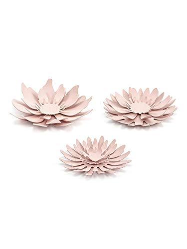Partydeko Papierblumen Vintage Blumen 3 STK. rosa Dekoblumen Tischschmuck Tortenfigur Hocheit