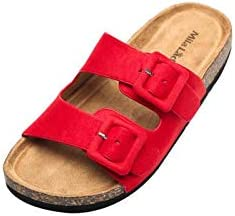 Mila Lady Womens Summer Comfortable Strappy Flip Flops Cork Sole