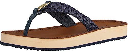 GANT Footwear Damen Flatville Zehentrenner, Blau (Marine G69), 42 EU