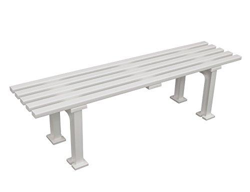 Kunststoff - Sitzbank MONO ohne Lehne 150cm, weiß