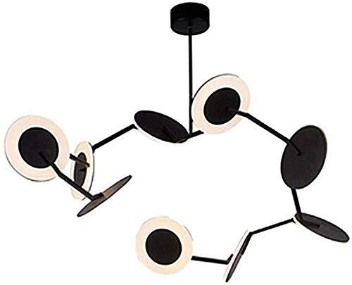 Wghz Lámpara de Techo Moderna de 9 Luces Led Sputnik Creatividad Rama Luz de Techo Molécula de Metal y acrílico Luz Colgante Iluminación Interior