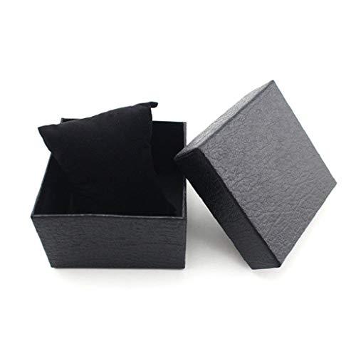 VektenxiPlain Wacth Geschenkbox Armband Armreif Geschenkbox mit Schaumstoffpolster Schwarz Sehr praktisch