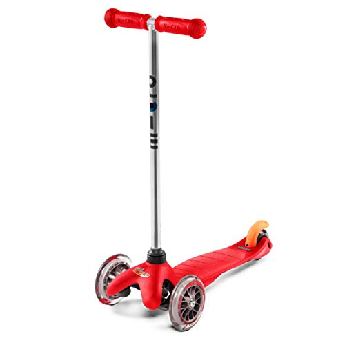 Micro Kickboard - Mini Original Kick Scooter 3 Wheeled, Lean-to-Steer Design, Micro Scooter for Ages 2-5 - Red