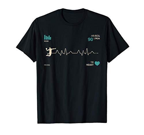 Regalos jugadores balonmano deportes clásicos Latido corazón Camiseta
