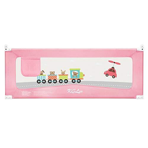 Sänggitter HUO fällbart barn sängskyddsnät utdragbar enkel hantering Pris prestanda barn- och föräldrar sängar (färg: Rosa, storlek: 150 cm)