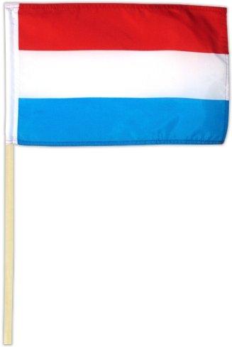 Fahne Flagge Luxemburg 30 x 45 cm mit Stab [Spielzeug]