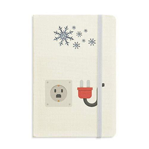 Steckdose, Schaltplan Muster, Notizbuch, dickes Tagebuch, Schneeflocken, Winter