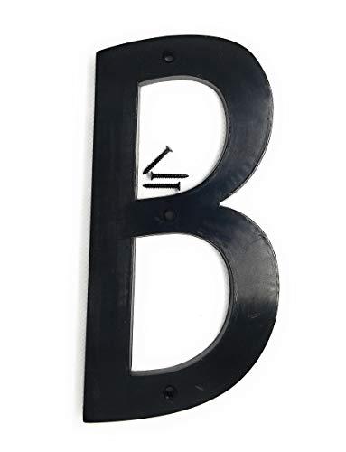 Números de casa de 15,2 cm, número de dirección de casa, números de calle para exteriores/exteriores/edificios/apartamentos/patios/granja/negro, número 0-9 letra A-B-C (B)