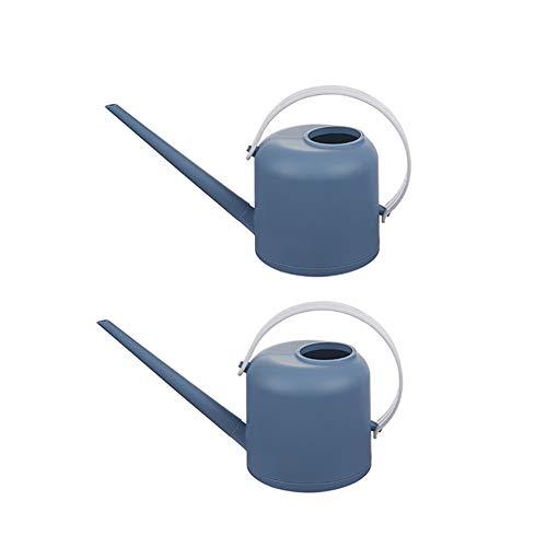 YYYUE Simple Jardin arrosoir, Accueil/Fleuriste/Flower Garden intérieur et extérieur d'irrigation des Plantes d'outils, Confortable Arrosoir avec Allonger Spout (2 pièces),Bleu
