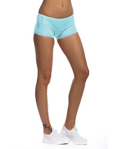 iCREAT Damen 3D Gel Radunterhose mit Sitzpolster Radlerhose Kurze Fahrradhose, Blau, S - 8