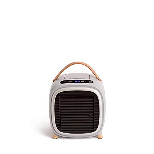 CREATE AIR COOLER STUDIO - Mini Aire Acondicionado Portátil, Aire Acondicionado de mesa, Humidificador, PurificadorUSB, 400ml, Temporizador, LCD Touch, 3 Velocidades, Ultrasilencioso (Gris mate)