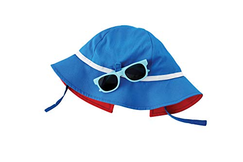 Mud Pie Baby Boys' Sun HAT and Glasses, Blue, 6-18 Months