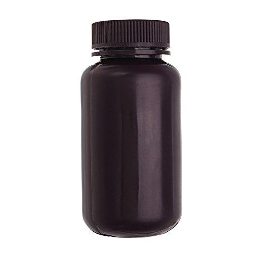 EsportsMJJ 250mL PP plastic bruine fles brede mond laboratorium monster reagens chemicaliën opslag fles