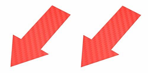 2x Abschlepphaken Pfeil Carbon Look rot passend für Rally, Viper 2 cm x 4 cm