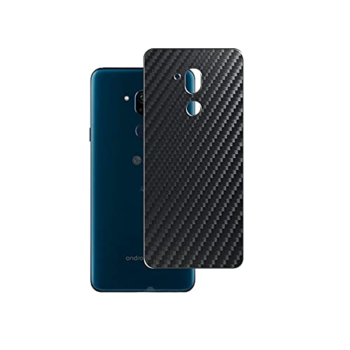 Vaxson 2-Pack Back Protector Film, compatible with Android One X5 Y!mobile softbank LG, Black Carbon Fiber Guard Cover Skin [Not Tempered Glass/Not Front Screen Protectors]