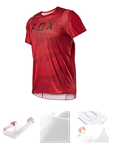 MTB Shirt Gepolstert,MTB Jersey Gepolstert,Herren Downhill Trikots Kurzarm MTB Fox Mountainbike Shirts Offroad Dh Motorrad Trikot Motocross Sportwear Fxr (Medium, Bild 10)