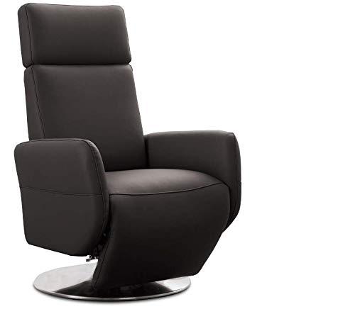 Cavadore TV-Sessel Cobra mit 2 E-Motoren / Elektrischer Fernsehsessel mit Fernbedienung / Relaxfunktion, Liegefunktion / Ergonomie L / Belastbar bis 130 kg / 71 x 112 x 82 / Echtleder Mokka